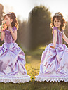 Costumes de Cosplay Princesse / Conte de Fee Cosplay de Film Violet Couleur Pleine Robe Halloween / Noel / Nouvel an Enfant Satin