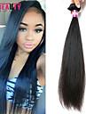 """1 st / lot 12 """"-30"""" 7a malaysiska jungfru hår rakt människohår väft 100% obearbetat malaysiska remy hår väver"""