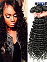 """4 st / lot 8 """"-28"""" 8a peruanska jungfru hår vinkar djupt mänskliga hårwefts 100% obearbetat peruanska remy hår väver"""