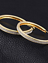 Earring Hoop Earrings Jewelry Women Alloy / Cubic Zirconia / Silver Plated 2pcs Silver