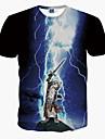 T-Shirts ( Coton melange ) Informel Rond a Manches courtes pour Unisexe