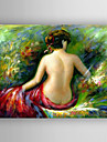 Oil Painting Back of Nude Woman Hand Painted Canvas with Stretched Framed