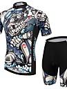 Maillot et Cuissard de Cyclisme Homme Manches courtes VeloRespirable / Resistant aux ultraviolets / Permeabilite a l\'humidite /