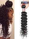 """1 st / lot 12 """"-28"""" 8a malaysiska jungfru hår vinkar djupt mänskligt hårwefts 100% obearbetat malaysiska remy hår väver"""
