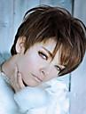 belle et elegante perruque courte extensions femmes de style Lady syntheic brun
