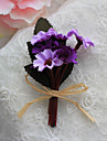 Wedding Flowers Bride Simple Free-form Roses Boutonnieres