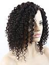 joywigs ingen trassel och inget avgivande afro curl limfria fulla spets / spets front människohår peruker med baby hår