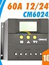 lcd 60a solpanel laddningsregulatorn batteriladdare regulator PWM läge 12 / 24v auto