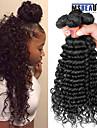 """4 st / lot 8 """"-28"""" 8a malaysiska jungfru hår vinkar djupt mänskliga hårwefts 100% obearbetat malaysiska remy hår väver"""