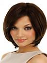 hög kvalitet och billigaste pris mörkbrun kort syntheic peruk förlängningar