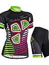 NUCKILY® Cykeltröja med shorts Dam Kort ärm CykelVattentät / Andningsfunktion / Ultraviolet Resistant / Fuktgenomtränglighet / Vattentät