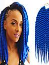 1st havana mambo twist fläta håret syntetisk bule färg Kanekalon kinky marley vändningar fläta hårförlängning