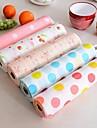 låda papper plast tryckta tapeter färgrik vattentät matta garderob köksskåp pad (slumpvis färg)