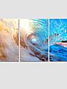 Landskap / Modern / Popkonst Canvastryck Tre paneler Redo att hänga , Andra