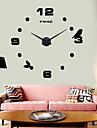 hög kvalitet 3d DIY väggklocka tyst ny modern design 12s006