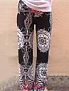 Dame Picior Larg Blugi Pantaloni Imprimeu Talie Medie Bumbac / Polyester / Others Elastic All Seasons
