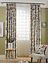 Två paneler Rustik Blommig/Botanisk Enligt bilden Bedroom Polyester Blackout Gardiner draperier