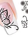 1 Sticker Manucure  Autocollants de transfert de l\'eau Autocollants 3D pour ongles Fleur Abstrait Maquillage cosmetique Manucure Design