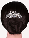 Silver Crystal Pearl Flower Hair Comb for Wedding Party Hair Jewelry