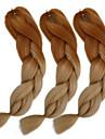 Beige Box Braids Jättelik Hårförlängningar 24inch Kanekalon 3 Strå 80-100g/pcs gram Hair Braids