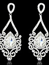 Lady\'s Multi-Stone Zircon Chandelier Drop Earrings for Wedding Party (Gold/Silver)