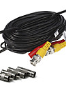 100ft (30m) cable d\'extension d\'alimentation de securite CCTV camera de surveillance video pre-faites tout-en-un cable RCA BNC