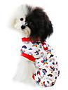 Pisici / Câini Salopete / Pijamale Roșu / Albastru Îmbrăcăminte Câini Primăvara/toamnă Desene Animate Modă