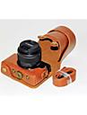 Digital Kamera-Fodral- tillCanon-En-axel- medDammsäker-Svart Kaffe Brun