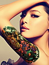 BR - Tatueringsklistermärken -Non Toxic / Mönster / Stor storlek / Glitter / Tatueringsmaskin / Stam / Ländrygg / Waterproof / Nyår / 3D