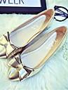 Damskor-Polyester / Nylon-Platt klack-Ballerina-Platt sko-Utomhus / Kontor / Formellt / Fritid-Svart / Röd / Vit / Silverfärgad /