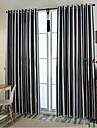 Två paneler Europeisk Rand Svart Bedroom Polyester Blackout Gardiner draperier