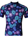 JESOCYCLING® Camisa para Ciclismo Mulheres Manga Curta MotoRespiravel / Secagem Rapida / Resistente Raios Ultravioleta / Anti-Estatico /