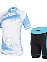 CHEJI® Cykeltröja med shorts Dam Kort ärm CykelAndningsfunktion / Snabb tork / Ultraviolet Resistant / 3D Pad / Ultratunt tyg /