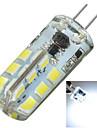 3W G4 LED-lampor med G-sockel Infälld retropassform 24 SMD 2835 200-300 lm Kallvit Dekorativ DC 12 / AC 12 V 1 st