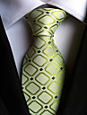 Cravată ( Verde , Poliester ) Grid