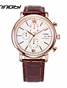 SINOBI® Men's Multi Dials Quartz Watch Brown Leather Dress Watch Brand Waterproof Automatic Design Fasion Watch Wrist Watch Cool Watch Unique Watch