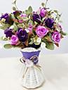Une succursale Plastique Roses Fleur de Table Fleurs artificielles 12