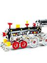 Puzzles Puzzles 3D / Puzzles en Metal Building Blocks DIY Toys Traine 353 Metal Rouge / Noir / Jaune / ArgenteMaquette & Jeu de