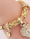 Pentru femei Copii Ceas La Modă Ceas de Mână Ceas Brățară Quartz Ștras imitație de diamant Aliaj BandăVintage Heart Shape Boem Charm