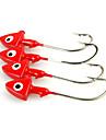 Fiske-10 st Röd Metall-Brand  New Kastfiske / Spinnfiske / Färskvatten Fiske / Abborr-fiske / Drag-fiske / Generellt fiske