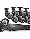 annke® 16CH 1080p HD DVR hdmi CCTV utomhus ir hemmavideo säkerhet kamerasystem