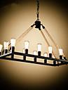 Lampe suspendue ,  Rustique Peintures Fonctionnalite for Designers MetalSalle de sejour Chambre a coucher Salle a manger Bureau/Bureau de