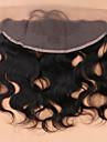 onda del corpo pizzo chiusura frontale nodi candeggiati 13x4 vergini orecchio capelli umani di orecchio pieno pizzo frontale pezzo con i