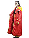 Inspireret af One Piece Monkey D. Luffy Anime Cosplay Kostumer Cosplay Suits Trykt mønster Rød Kappe