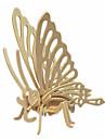 Puzzles Puzzles 3D Puzzles en bois Blocs de Construction Jouets DIY  Papillon Bois Beige Maquette & Jeu de Construction