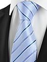 Cravată(Albastru / Purpuriu Deschis,Poliester)Dungi