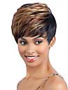 courte longueur cheveux raides armure europeenne cheveux couleur melangee perruque synthetique