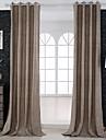 Två paneler Fönster Behandling Nyklassisistisk , Solid Living Room Linne/Bomull blend Material gardiner draperier Hem-dekoration For