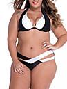 Bikini Da donna Monocolore Imbottito / Con ferretto All\americana Poliestere
