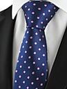 Cravată(Albastru / Roz,Poliester)Buline